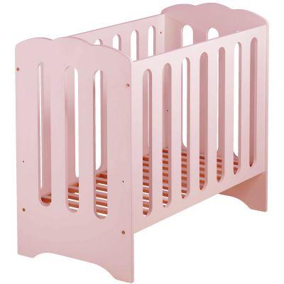 Mini lit bébé nuage rose avec matelas (50 x 100 cm)
