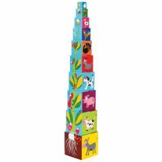 Pyramide ferme (10 cubes) - Scratch
