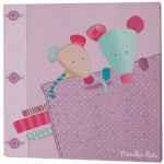 Cadre toile parme Les jolis pas beaux (30 x 30cm) - Moulin Roty