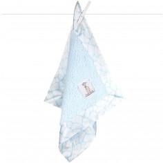 Doudou couverture Chenille giraffe bleu (40 x 40 cm) - Little giraffe