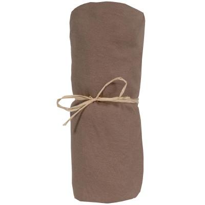 Drap housse jersey coton bio taupe (40 x 80 cm)