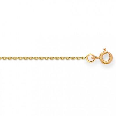 Cha�ne maille for�at diamant� 38 cm (or jaune 750�) - Berceau magique bijoux