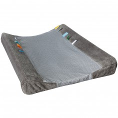 Housse de matelas � langer Happy Dressing Storm grey (45 x 70 cm) - Snoozebaby