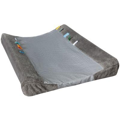 Housse de matelas à langer happy dressing storm grey (45 x 70 cm)