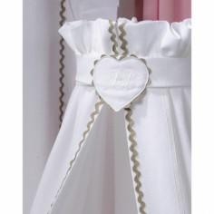 Ciel de lit Emma blanc - Nougatine