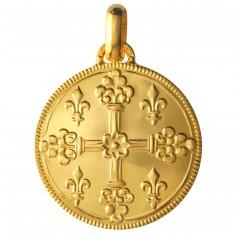 M�daille Croix de Saint Louis 18 mm (or jaune 750�) - Monnaie de Paris