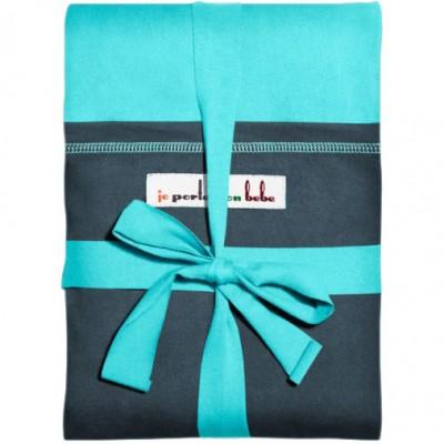 Echarpe de portage l'originale turquoise poche bleu paon