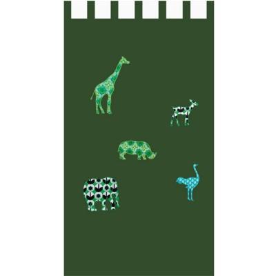 Rideau Safari vert (145 x 280 cm) - Taftan