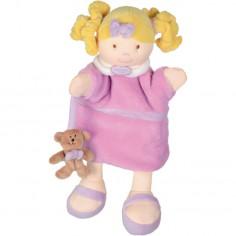 Marionnette Poup�e rose (30 cm) - Doudou et Compagnie