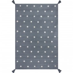 Tapis gris �toiles gris (140 x 200 cm) - Art for Kids