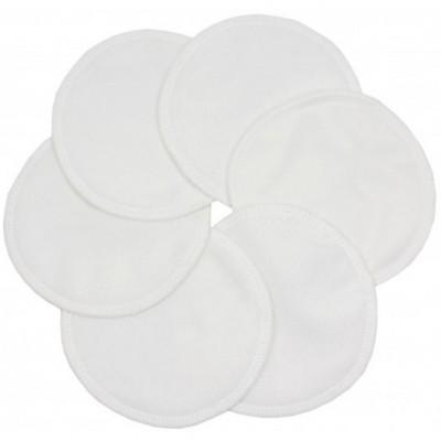 Coussinets d'allaitement lavables effet au sec blanc (6 pièces)
