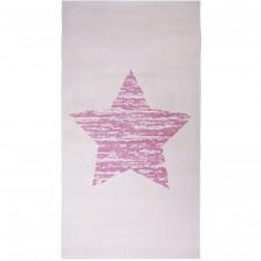 Tapis fille Lucero �toile rose (80 x 150 cm) - Nattiot