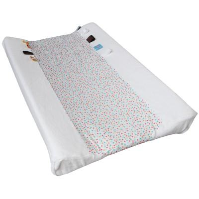 Housse de matelas à langer happy dressing confetti white (45 x 70 cm)