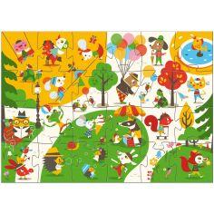 Puzzle g�ant Flocky Le Square (24 pi�ces) - Djeco
