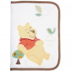 Prot�ge carnet de sant� Winnie l'ourson taupe et blanc                - Babycalin
