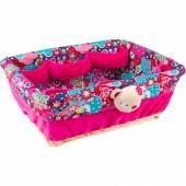 Corbeille rose � stylo en osier Kimono - Tuc Tuc