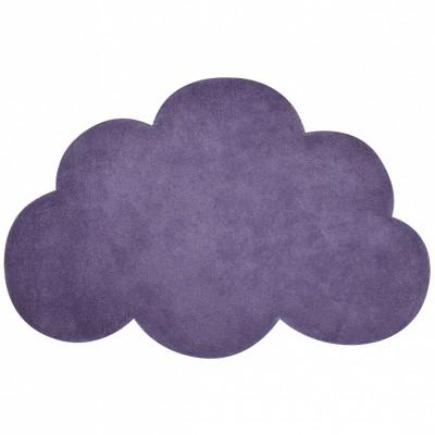 tapis coton nuage mauve by sophie cordier 64 x 100 cm. Black Bedroom Furniture Sets. Home Design Ideas