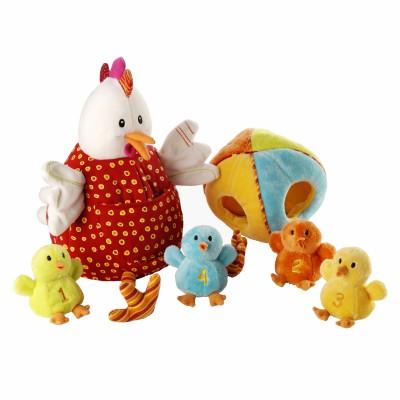 Oph lie la poule et ses poussins lilliputiens jeu d 39 activit s berceau magique - Poule et ses poussins ...