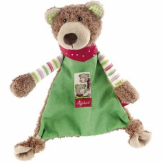 Doudou plat ours vert Wild and Berry Bears - Sigikid