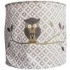Suspension lampion en tissu Hibou gris  - Taftan