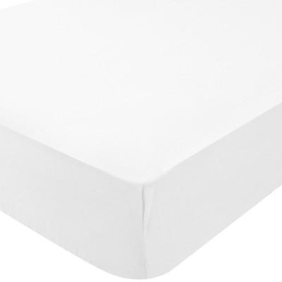 Drap housse microfibre simply blanc (60 x 120 cm)