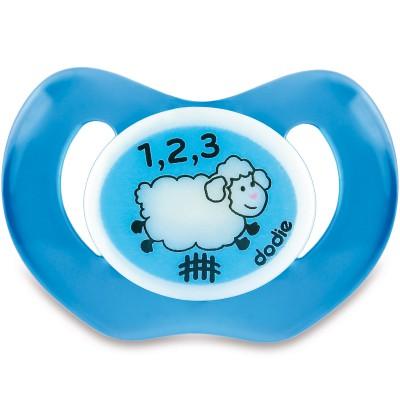 Sucette physiologique en silicone sans anneau mouton (18 mois et +)