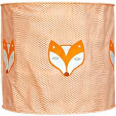 Suspension lampion en tissu Corbeau et Renard orange - Taftan
