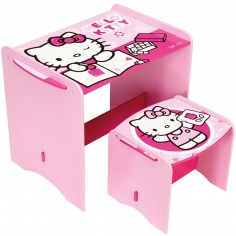 Mon premier bureau Hello Kitty rose avec tabouret - Room Studio