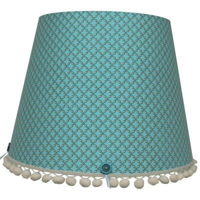 abat jour retro vintage turquoise pour lampe 35 x 28 cm. Black Bedroom Furniture Sets. Home Design Ideas