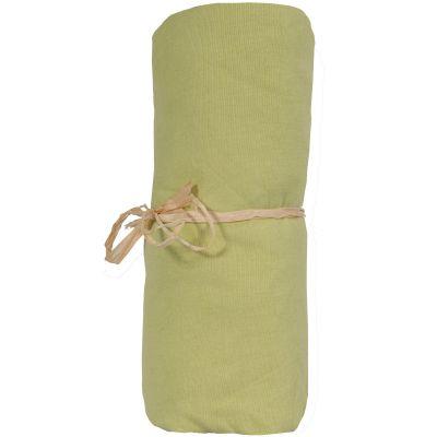 Drap housse jersey coton bio vert mousse (40 x 80 cm)