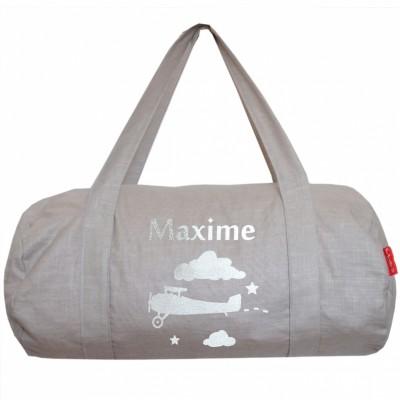 Sac de voyage en toile gris personnalisable les griottes for Meubles flamant outlet