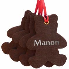 Kit d�coration de No�l en feutrine oursons marrons - Les Griottes