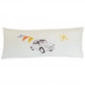 Coussin drapeaux et voiture (20 x 50 cm) - Mimi'lou