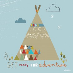Tableau Teepee by Paper & Cloth (40 x 40 cm) - Lilipinso
