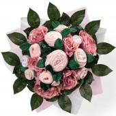 Bouquet de naissance Luxury Rose rose (11 pi�ces) - Babyblooms