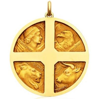 Médaille des 4 évangélistes  (or jaune 750°)  par Becker