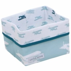 Panier de rangement Mint airplane (petit mod�le)  - Little Dutch