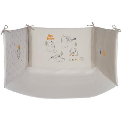tour de lit un tendre hiver beige pour lit 60 x 120 cm ou. Black Bedroom Furniture Sets. Home Design Ideas