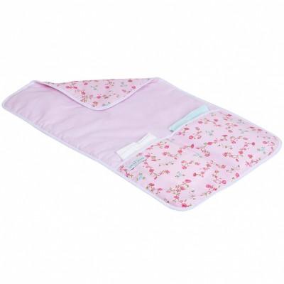 Tapis à langer nomade pink blossom