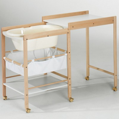 Table langer coulissante en bois hanna naturel hauteur - Hauteur table a langer ...