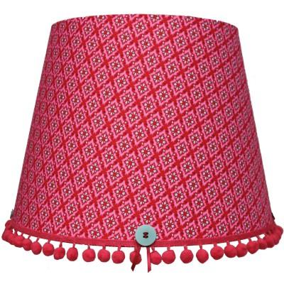 abat jour retro vintage rouge pour suspension 35 x 28 cm. Black Bedroom Furniture Sets. Home Design Ideas