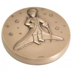 Presse-papiers Petit Prince dans les �toiles (bronze) - La Monnaie de Paris