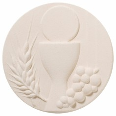 Plaque murale ronde Communion - Centro Ave Ceramica