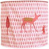 Suspension lampion en tissu Bambi rose - Taftan