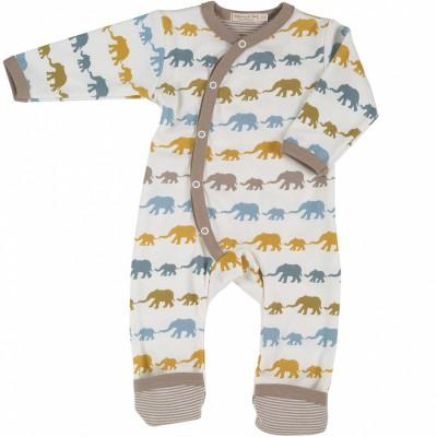Combinaison pyjama lphant mustard mix marron et jaune - Pyjama elephant ...