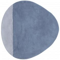 Tapis coton stone dusty bleu En mer by Sophie Cordier (80 x 81 cm) - Lilipinso