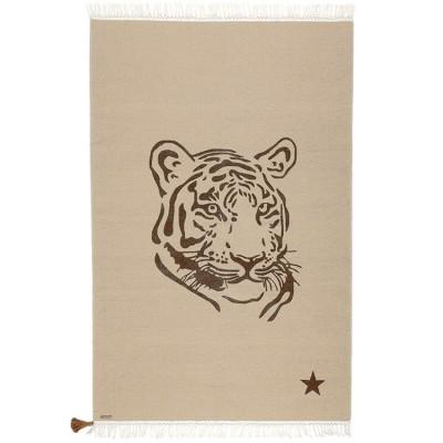 Tapis rectangulaire Gypsy tigre beige (100 x 150 cm)