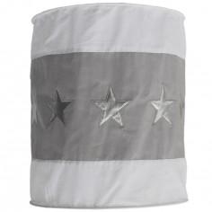 Suspension lampion en tissu Etoile gris et blanc - Taftan