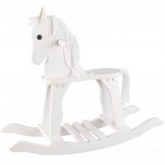 Cheval � bascule Derby blanc - KidKraft