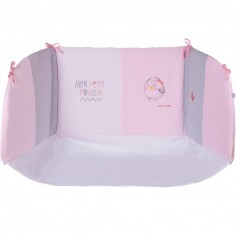 Tour de lit rose pastel (pour lit 60 x 120 cm ou 70 x 140 cm) - Sucre d'orge
